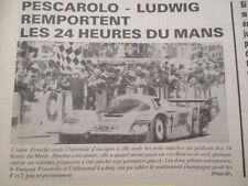 PESCAROLO - LUDWIG gagnent aux 24H du Mans 1984