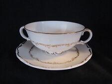 Royal Doulton - RICHELIEU - Cream Soup Bowl & Stand