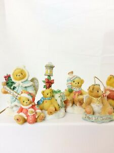 Cherished Teddies - Collection Of 7 Christmas Figurines