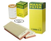 OEM Engine Air Filter Oil Filter Kit Mann-Filter Mercedes V6 V8 Gas Engine New