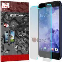 """Pellicola in Vetro Temperato Per HTC U Play Proteggi Salva Schermo LCD 5,2"""""""