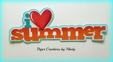 CRAFTECAFE MINDY LOVE SUMMER VACATION premade paper piecing TITLE scrapbook