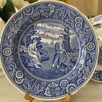 """Spode The Blue Room Collection """"Woodman"""" Dinner Plate 10 1/4"""" Made in England"""