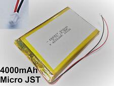 EREMIT Lithium LiPo Batterie Akku 4000mAh 3.7V 1S PCB Mini Micro JST 1.25 mm 49