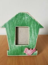 Two's Company Wooden Rustic Small Crafted Picture Frame