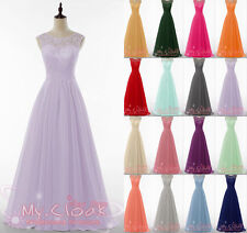 New Lace Evening Formal Chiffon Party Ball Gowns Prom Bridesmaid Dress Size 8-26