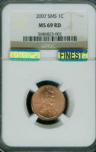 2007 LINCOLN CENT NGC MS69 SMS PQ MAC FINEST REGISTRY MAC SPOTLESS  *