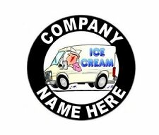 "2 - 12"" Personalized Ice Cream Truck or Parlor Decals with Your Company Name"