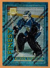 1994-95 , TOPPS , FINEST , MIIKKA KIPRUSOFF , CARD #125 , WORLD JUNIOR , ROOKIE