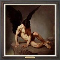 """Hand painted Original Oil Painting art male nude boy angel on canvas 30""""X30"""""""