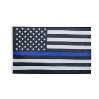 Thin Blue Line American Flag US Black & White Police Support 3x5 Policemen X7P9