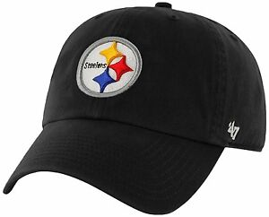 Pittsburgh Steelers 47 Brand Clean Up Adjustable On Field Cotton Hat Cap NFL