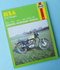 B40 workshop manual for 1958 pour modèles 1966 Bsa C15