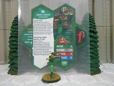 Heroscape Custom Green Arrow Double Sided Card & Figure w/ Sleeve DC