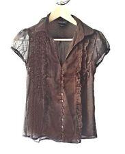 Maglie e camicie da donna aderente con fantasia nessuna fantasia sintetico