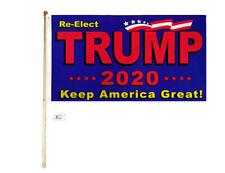 5' Wood Flag Pole Kit Wall Mount Bracket 3x5 Re-Elect Trump Keep America Great