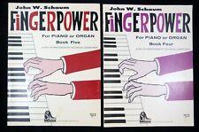 2 Piano Instruction Books Finger Power Book Four & Five Exercises Schaum 1968-70