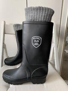 D&G wellington rain ruber boots size Uk 3