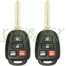 2 New Uncut 2012 2013 2014 Toyota Camry Keyless Remote Head Key Fob for HYQ12BDM