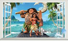 Disney Moana Maui Heihei 3D Window Wall decor Stickers Kids Nursery decals Gift