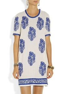 Isabel Marant Silk Dress, blue and white, size 36
