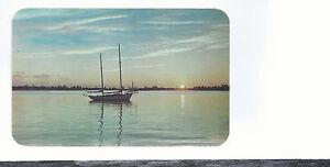 Sunset Reflections  Fort Walton   FL Unused Postcard 554