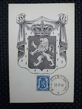 BELGIEN MK 1945 WAPPENLÖWE 1936 MAXIMUMKARTE CARTE MAXIMUM CARD MC CM a6658