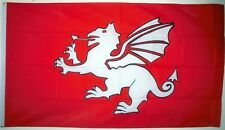 ENGLISH WHITE DRAGON PENDRAGON NEW DESIGN FLAG 5X3 England historical flags