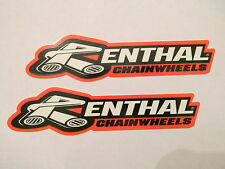 Two Renthal Racing Decals Stickers Chainwheels Chain Sprocket Handlebars Grips