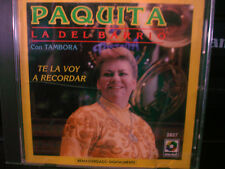 Paquita La Del Barrio Con Tambora Te La Voy A Recordar CD WORLD SHIP