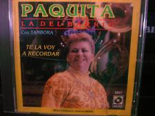 Paquita La Del Barrio Con Tambora Te La Voy A Recordar CD WORLD SHIP