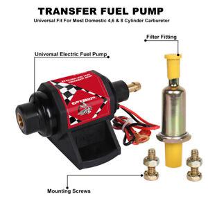 Universal 42S Micro Electric Fuel Pumps 12V 42GPH Gasoline 2-3.5PSI Low Pressure