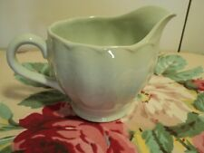 """GRINDLEY ENGLAND ALMOND PETAL 5"""" milk jug with fluted sides in 1930's mint green"""