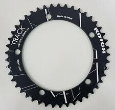"""Rotor NoQ(Aero) Track BCD144x5 1/8"""" Outer Round Chainring (45T-56T) Black"""