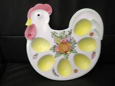 Eierteller, Eierplatte, Huhn Keramik