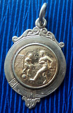 Welsh Silver & Gold Football Medal / Watch Fob 1948 - Welsh Division 1V   Wales