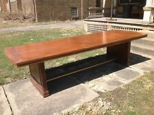 Romweber 10' Oak Dining/Conference Table Matching Side Table