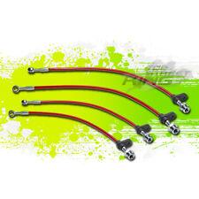 HIGH PERFORMANCE STAINLESS PVC BRAIDED BRAKE LINE 86-89 INTEGRA DA1/DA3 RED