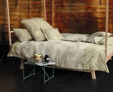 Linge de lit et ensembles beige en satin de coton