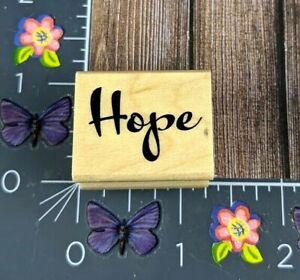 Hope Wood Rubber Stamp Script #G96