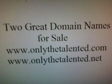 """Two Great Domain Names for Sale - """"onlythetalented.com & .net"""""""