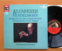 ED 29 0579 1 Mendelssohn Symphony 3 & 4 Klemperer NM/EX Digital Remaster LP