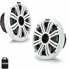 "New listing Kicker 6.5"" White Marine Speakers Qty 2 1 pair of Oem replacement speakers"
