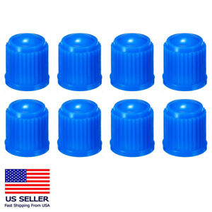 8PC Tire Valve Stem Caps Tight Seal for Car SUV Bike Bicycle Motors Truck Blue