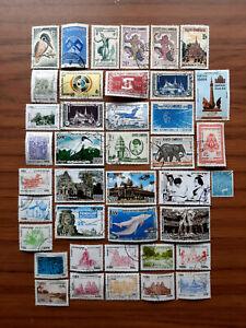 Lot Briefmarken Kambodscha gelaufen