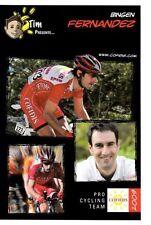 CYCLISME carte cycliste BINGEN FERNANDEZ équipe COFIDIS 2009