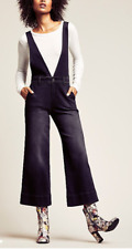 NWT $128 Free People A Line Overalls in Black  0, 2, 6, 8, 10, 12