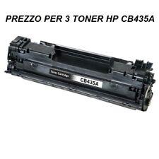 CARTUCCIA PER STAMPANTE HP LASERJET P1005 P1006 SET DA 3 TONER CB435A  NERO