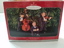 "Hallmark Keepsake Ornament Three Stooges ""Musicians"" Set of 3 in box 1998"