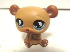 Littlest Pet Shop Cute Light Brown Panda Bear #814 Blue Moon Eyes Hasbro LPS